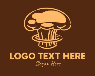 Pancakes - Atomic Brown Chef Hat logo design