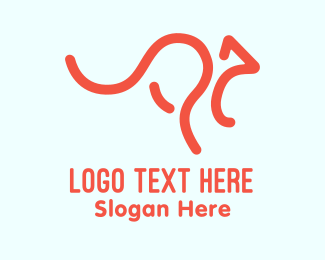 Joey - Orange Australian Kangaroo logo design