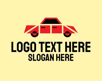 Sedan - Retro Toy Car logo design