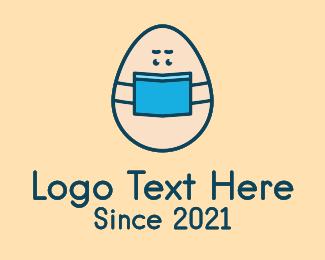 Health Care Worker - Face Mask Egg logo design