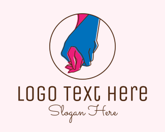 Dating Forum - Hand Holding Support logo design