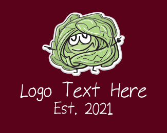 Cartoon - Cartoon Cabbage Veggie logo design