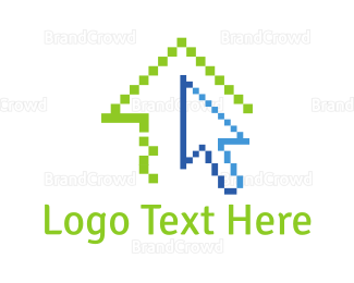 Bitmap - Pixel House logo design