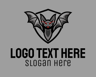 Evil - Evil Bat Mascot logo design