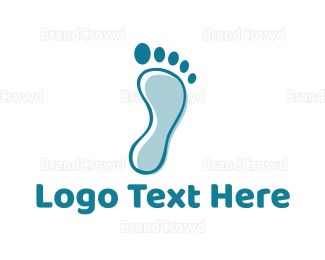 Chiropodist - Blue Footprint logo design