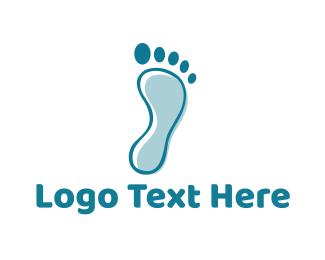 Footprint - Blue Footprint logo design