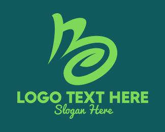 Organic Products - Organic Letter B logo design