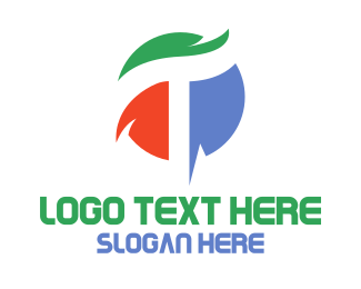 Initial - Colorful Letter T Business logo design