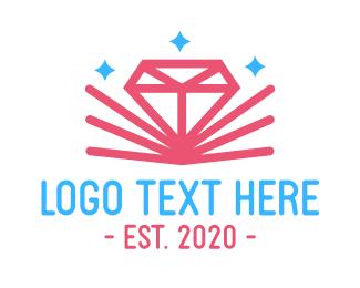 Sparkling - Pink Sparkling Diamond logo design