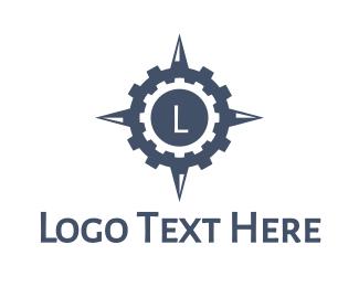 West - Gear Compass logo design