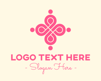 Swirly - Stylish Pink Emblem logo design