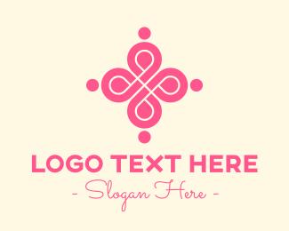 Girly - Stylish Pink Emblem logo design