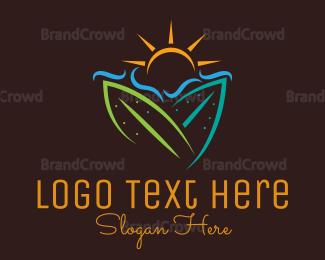 Board - Sunny Surfing logo design