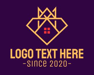 Crown - Monarchy Diamond House logo design