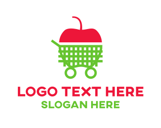 Shopify - Shopping Apple  logo design