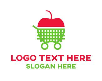 Shopping - Shopping Apple  logo design
