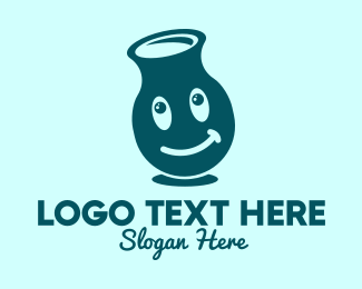 Fresh Milk - Smiling Milk Bottle  logo design
