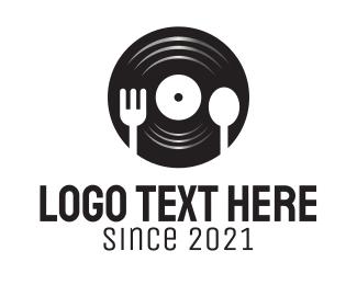 Eating - Music Bar Restaurant logo design