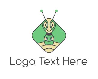 Antenna - Martian Ant logo design