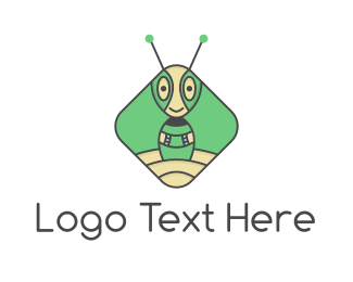 Ant - Extraterrestrial Robot Ant logo design