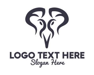 Thailand - Stylish Blue Elephant  logo design