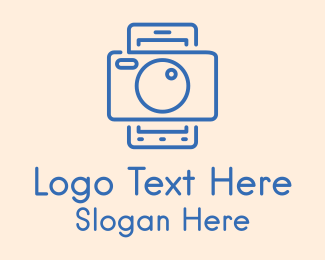 Social Media - Mobile Camera Outline  logo design