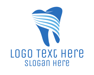 Blue Tooth Stripes Logo
