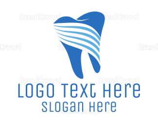 Dentist - Tooth Stripes logo design