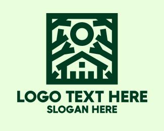 Suburbs - Green Nature House  logo design