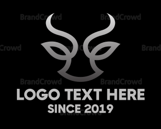 Extreme - Bull Face Abstract  logo design