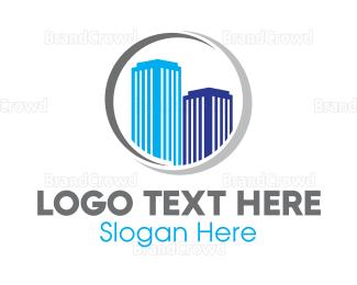 Business Center - Modern Building Ring  logo design