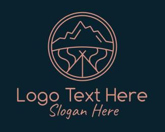 Canyon - Minimalist Mountaineer Nature logo design