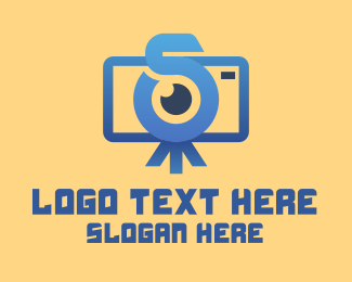 Camera Eye - Vlog Camera Letter S logo design
