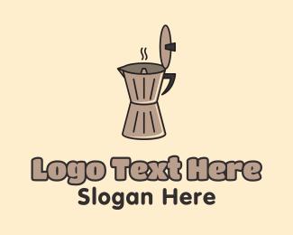 Jar - Milk Frother Cafe logo design