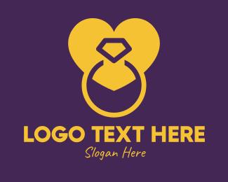 Wedding - Luxurious Wedding Ring logo design