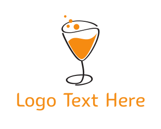 Juice - Orange Sparkling Juice logo design