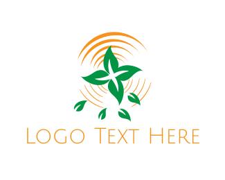 Swamp - Pond Plant logo design
