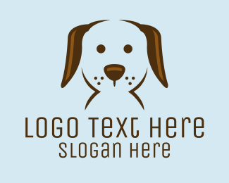 Dog Shelter - Pet Puppy Dog Face logo design