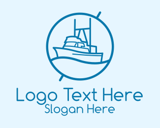 Coast Guard - Blue Cargo Ship  logo design