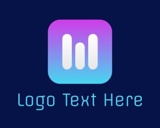 Dj - Volume  Mixer logo design