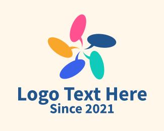 Speech Bubble - Multicolor Chat Bubble logo design