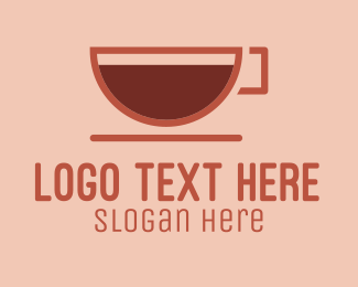 Hot Drink - Brown Coffee Cup  logo design