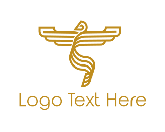 Golden - Golden Phoenix logo design
