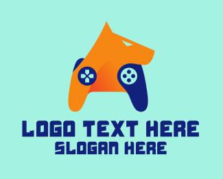 Video Game Console - Hound Game Controller logo design