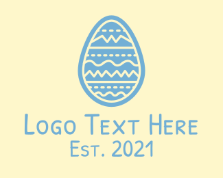 Decorated - Decorated Easter Egg  logo design