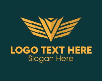 Military - Golden Military Badge logo design