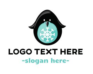 Snow - Snow Penguin logo design
