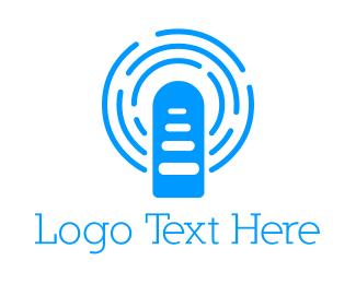 Mic - Blue Broadcast logo design
