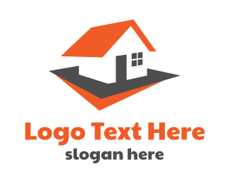 Roof - Red Roof House logo design