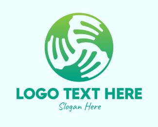 Earth - Global Earth Hands  logo design